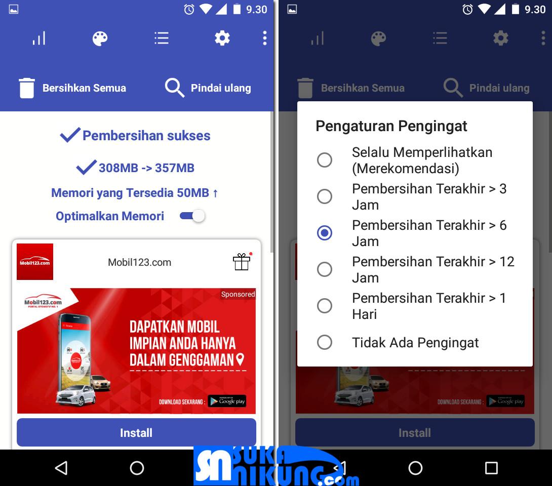 Kelola Memori Internal Dengan Bazinga Pembersih Sampah Pada Android - Tips trik Android, aplikasi, software grafis, disain, Islami dan segala sesuatu tentang Android