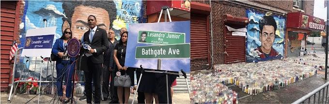 Rótulo con renombramiento de esquina en honor a Junior sería desvelado en enero de 2019