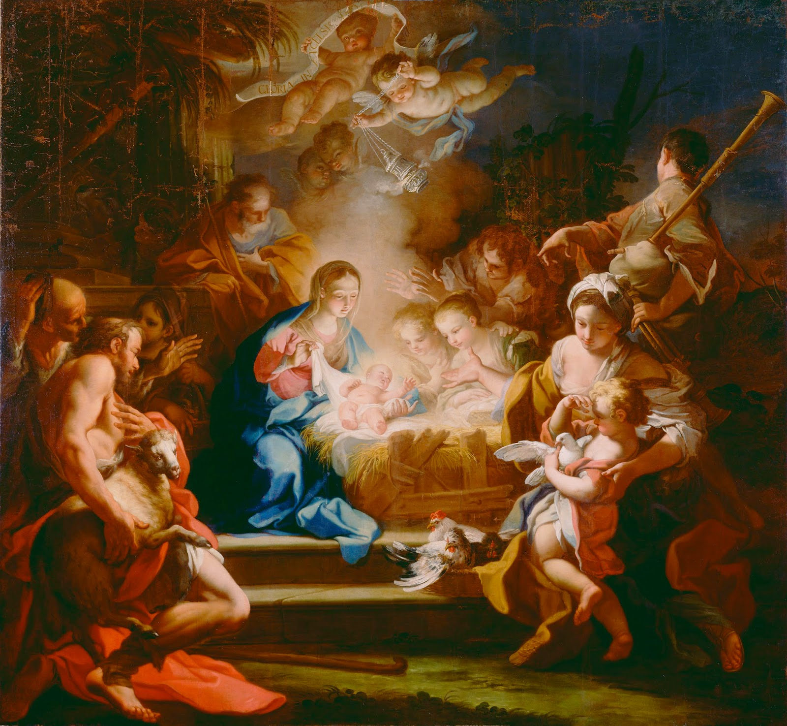 Adoration Shepherds Domenichino