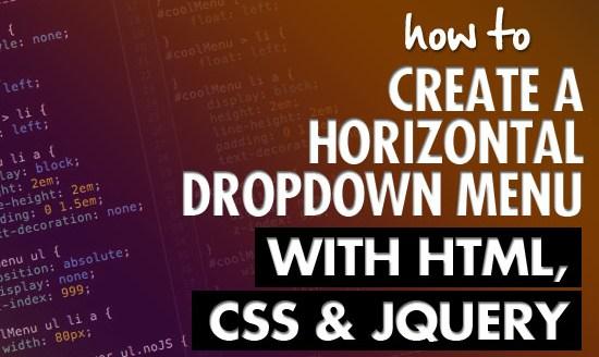 Cara praktis membuat drop down menu dengan CSS