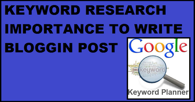 HOW TO RESEARCH KEYWORD IN BLOG