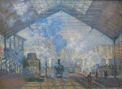 Uso del color cerúleo - La Gare Saint-Lazare - Claude Monet.