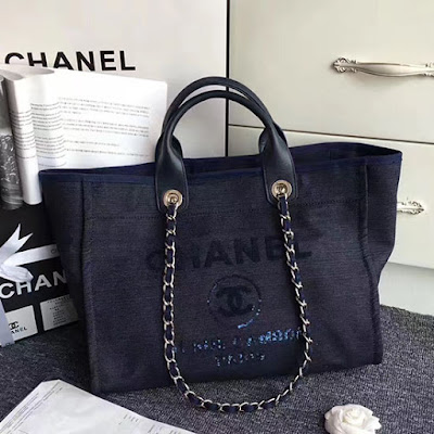 bd4b470030c2 Chanel Canvas and Sequins Cubano Trip Deauville Shopping Bag A66941 ...