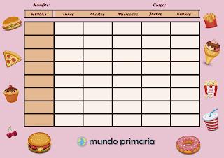 horario escolar de calidad de comida