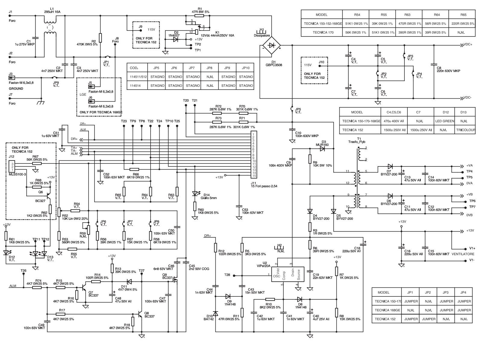 Electronic Inspirations  Telwin Technica 150 Inverter For Welding  U2013 Schematic  U2013 Part 2 Of 2