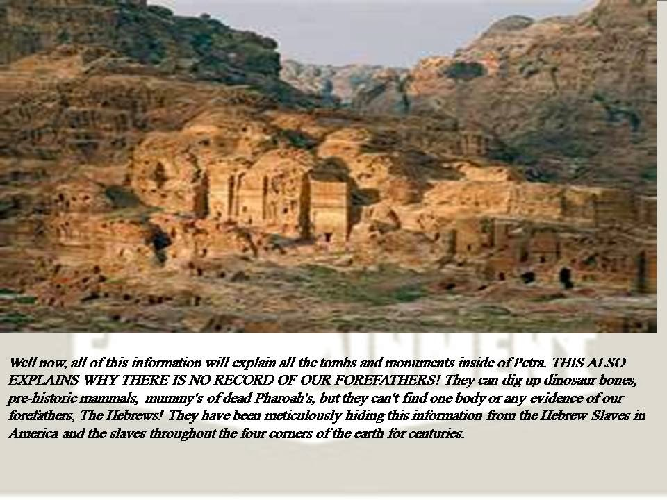 FOREFATHERS BURIED IN PETRA