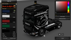Black Lady Legend Skin for Scania RJL