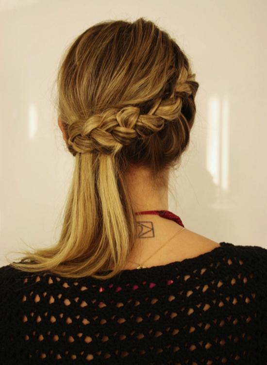 penteado lateral com trança