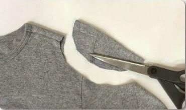 como transformar una camiseta de manga larga