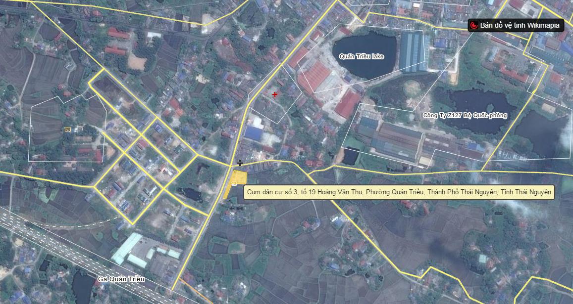 Vị trí dự án đất nền Quán triều, Thái nguyên