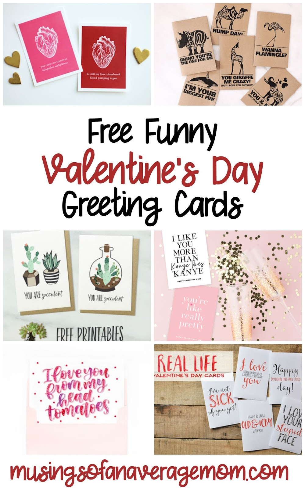 image regarding Funny Printable Valentines identified as Musings of an Ordinary Mother: Amusing Valentines Working day Playing cards