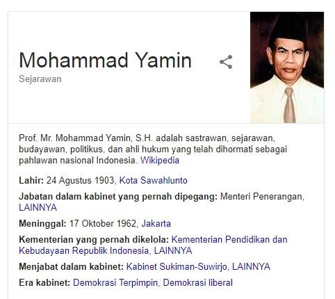 17 Fakta Menarik Tentang Mohammad Yamin Salah Satu Tokoh Pergerakan Kemerdekaan Indonesia