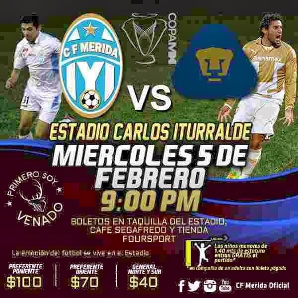 Mérida vs Pumas en Vivo