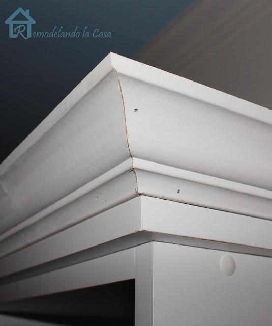 Remodelando La Casa Adding Crown Molding To The Top Of