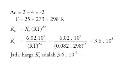 hubungan Kc dan Kp