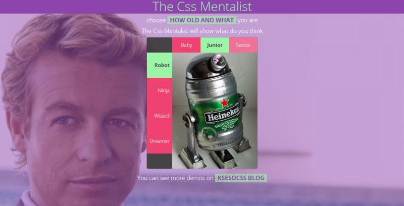 The Css Mentalist. The remake stylized