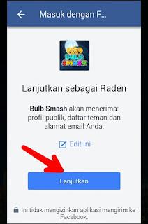 Lanjutkan Pendaftaran Facebook Bulb Smash