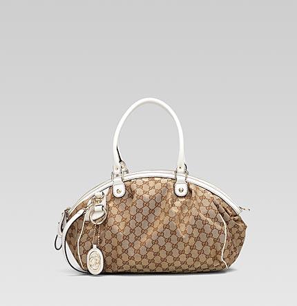 e1b539939714cf Gucci Sukey Medium Boston Bag w detachable interlocking G Charm - White