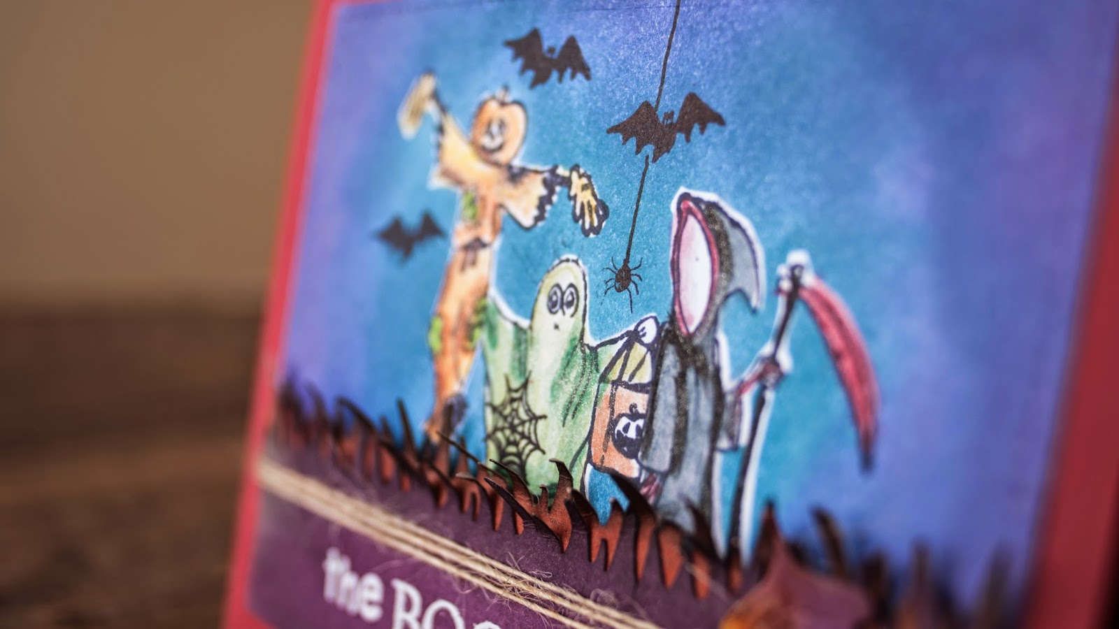 Halloween card #2 2014- the boo crew - tree friends out trick and treating - side