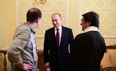 Vladimir Putin, Yury Bashmetov, Konstantin Khabensky.