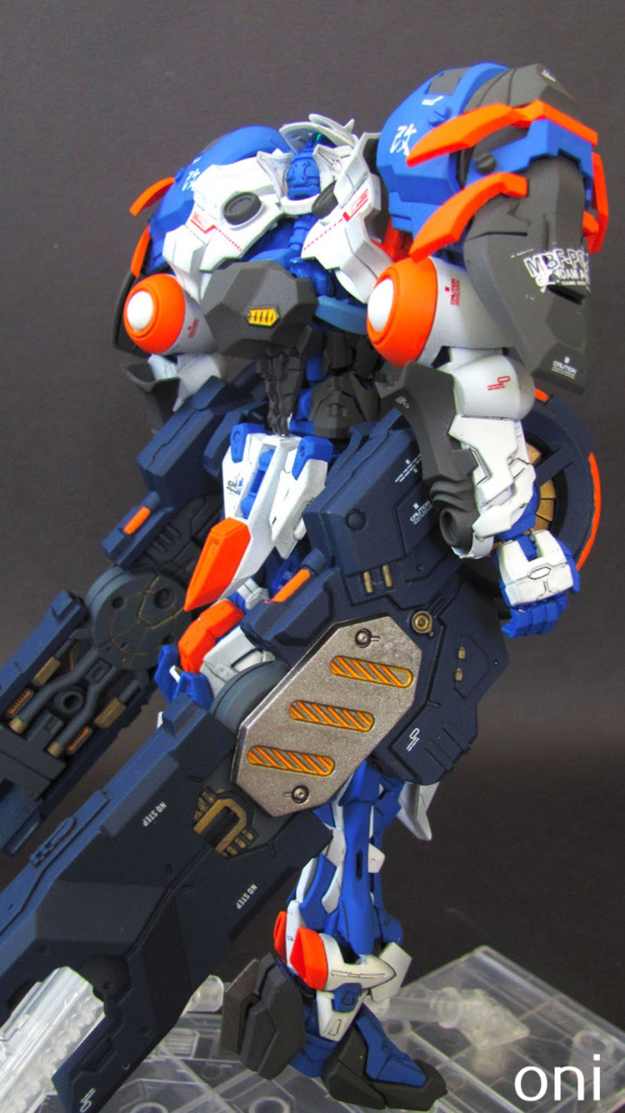 Custom Build: MG 1/100 Gundam Astray Blue Frame Powered Arms + Lohengrin Blaster