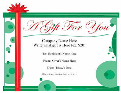 Blank Holiday Gift Certificate Template Free Wealp