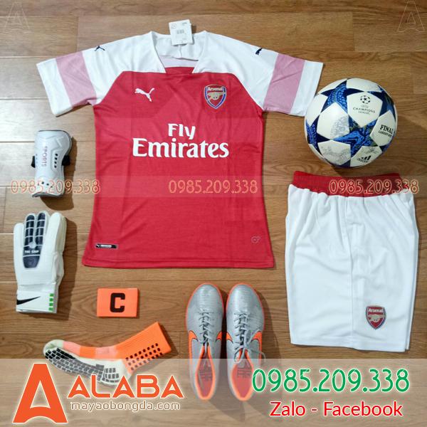 Áo CLB Arsenal 2019 sân nhà màu đỏ
