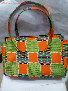 Ankara tote bag with external zip as seen in another picture