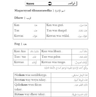 كتاب صومالي عربي