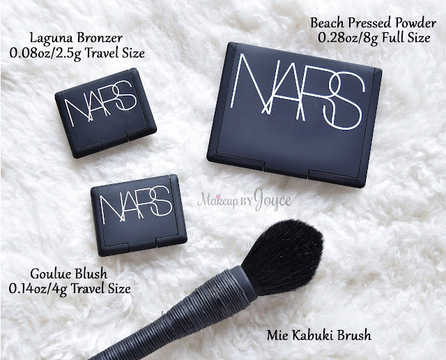 NARS Compact Packaging Size Comparison Mini Travel Pressed Powder Blush Bronzer Review