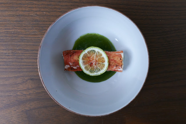 image of Grilled King Crab With Watercress Sauce by Naoko Takagi