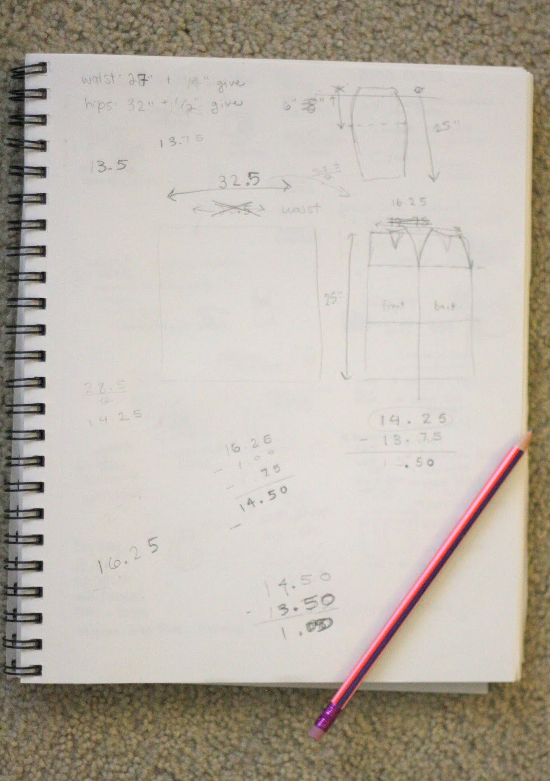 Crafting Zuzzy: Pencil Skirt Part One: Drafting and Cutting