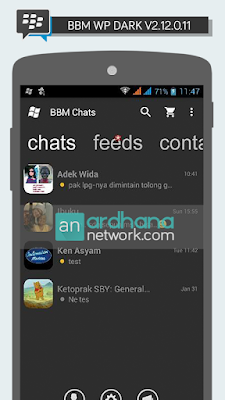 BBM Windows Phone Dark