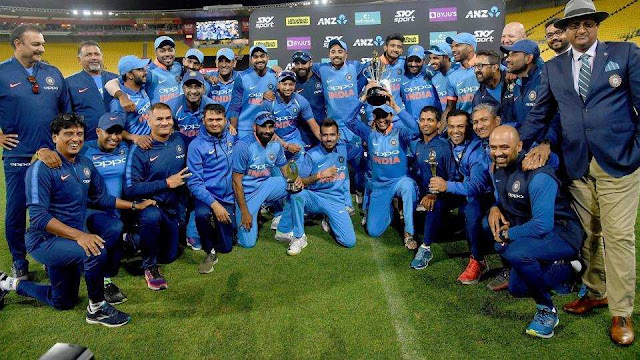 The Indian men's cricket team wins the New Zealand ODI series 4-1