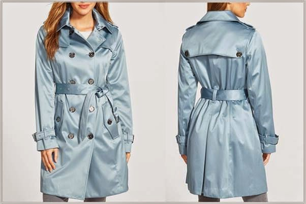 London Fog Light Blue Heritage Trench
