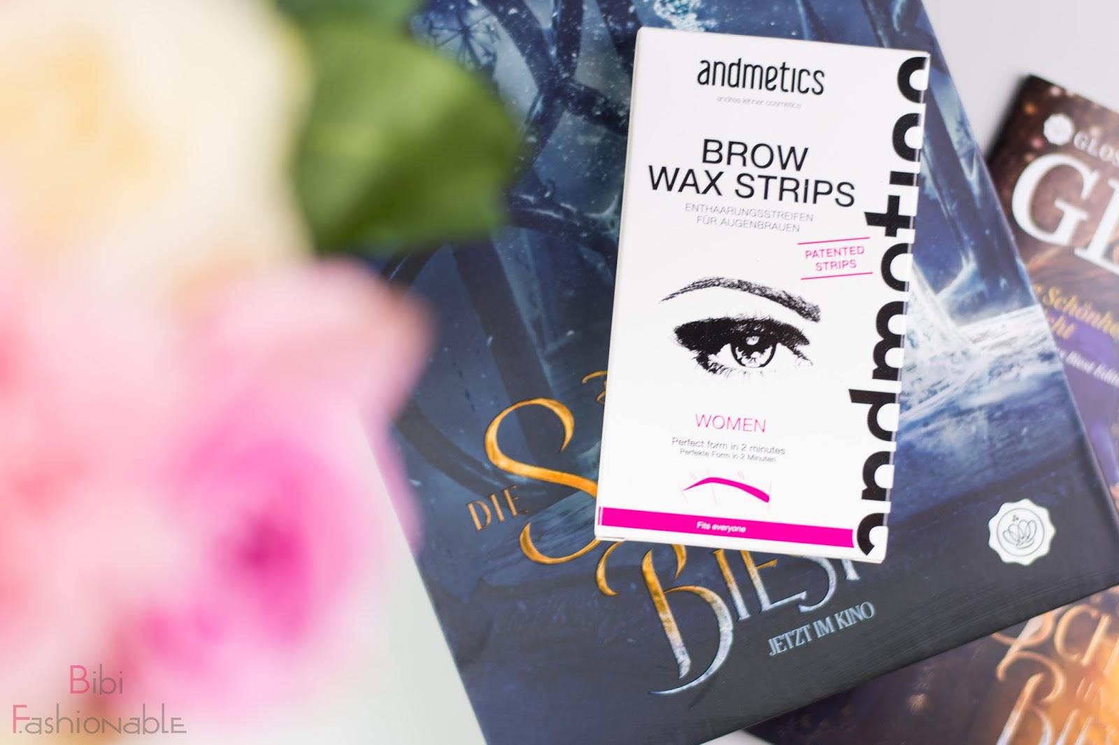 Unboxing Glossybox die Schöne und das Biest Andmetics Brow Wax Strips