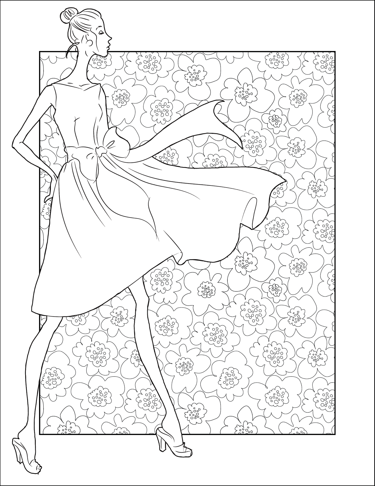 Free Fashion Coloring Pages For Girls Printable, Download Free ... | 1600x1237