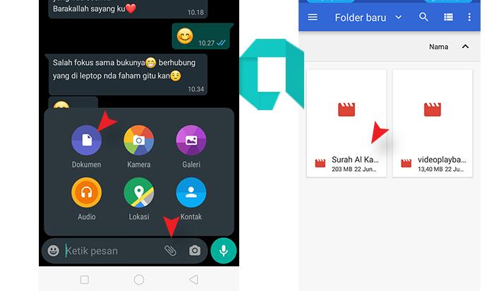 Cara Mengirim File Video Ukuran Besar Lewat WhatsAppTanpa Terpotong