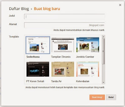 Daftar Blog Baru di Blogger