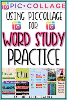 Ideas for using the PicCollage app for Word Study