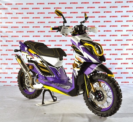 Modifikasi yamaha x ride velg 17