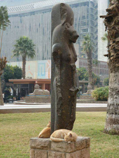 Sekhmet with Cats