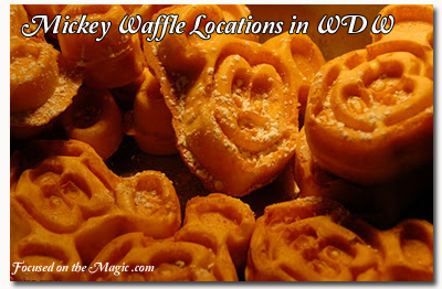Mickey Waffle Locations in Walt Disney World