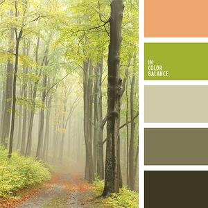 Природа - гармоничные палитры в 5 цветов