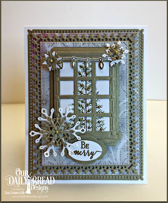 Our Daily Bread Designs Stamp Set: Merry & Bright, Joys of the Season, Our Daily Bread Designs Custom Dies: Welcoming Window, Mini Tags, Christmas Lights, Lavish Layers, Pierced Rectangles, Snow Crystals, Snowflake Sky, Double Stitched Rectangles, Our Daily Bread Designs Paper Collection: Winter 2014