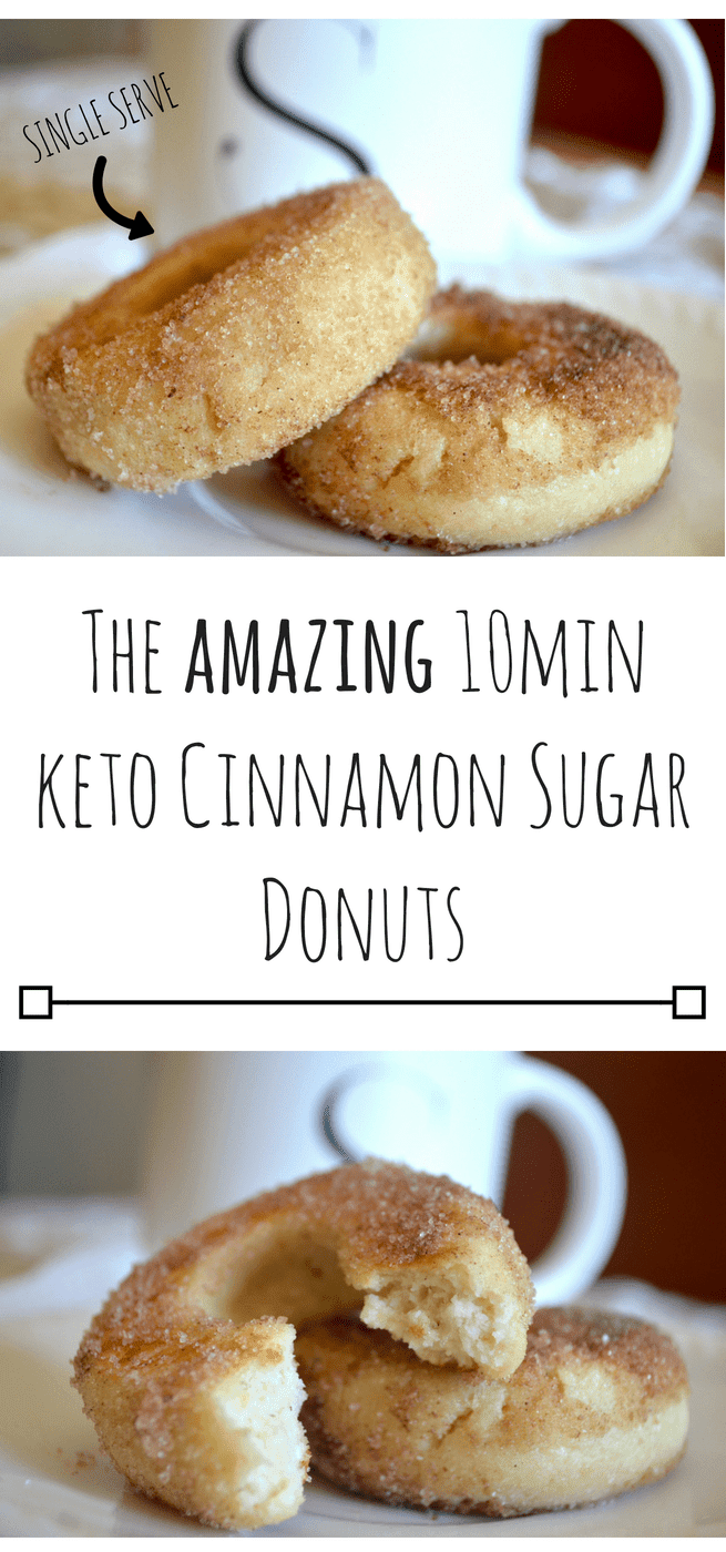 THE AMAZING 10MIN KETO CINNAMON SUGAR DONUTS