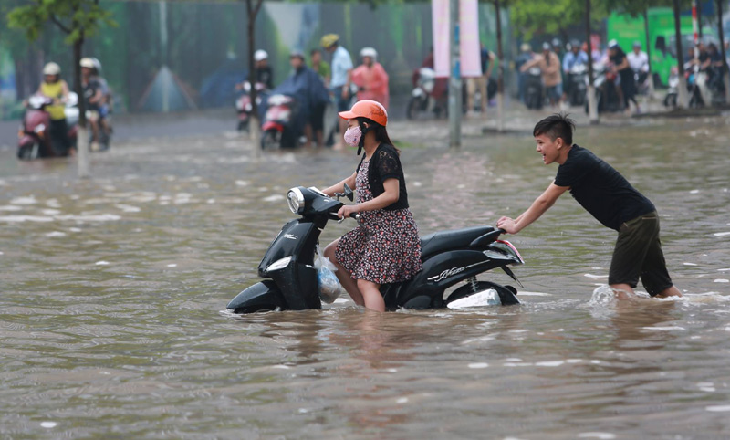 Hanoi Vietnam flood season