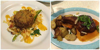 50's prime time cafe Grandpa's Crab Cake and Dad's Stuffed Pork Chop