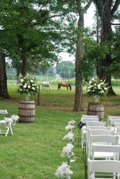 Rustic/Country wedding idea