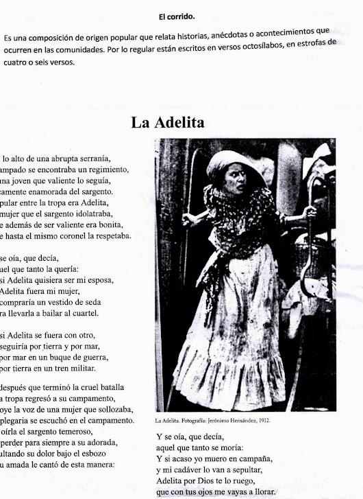Proyecto 11.- Conocer la lírica tradicional mexicana.
